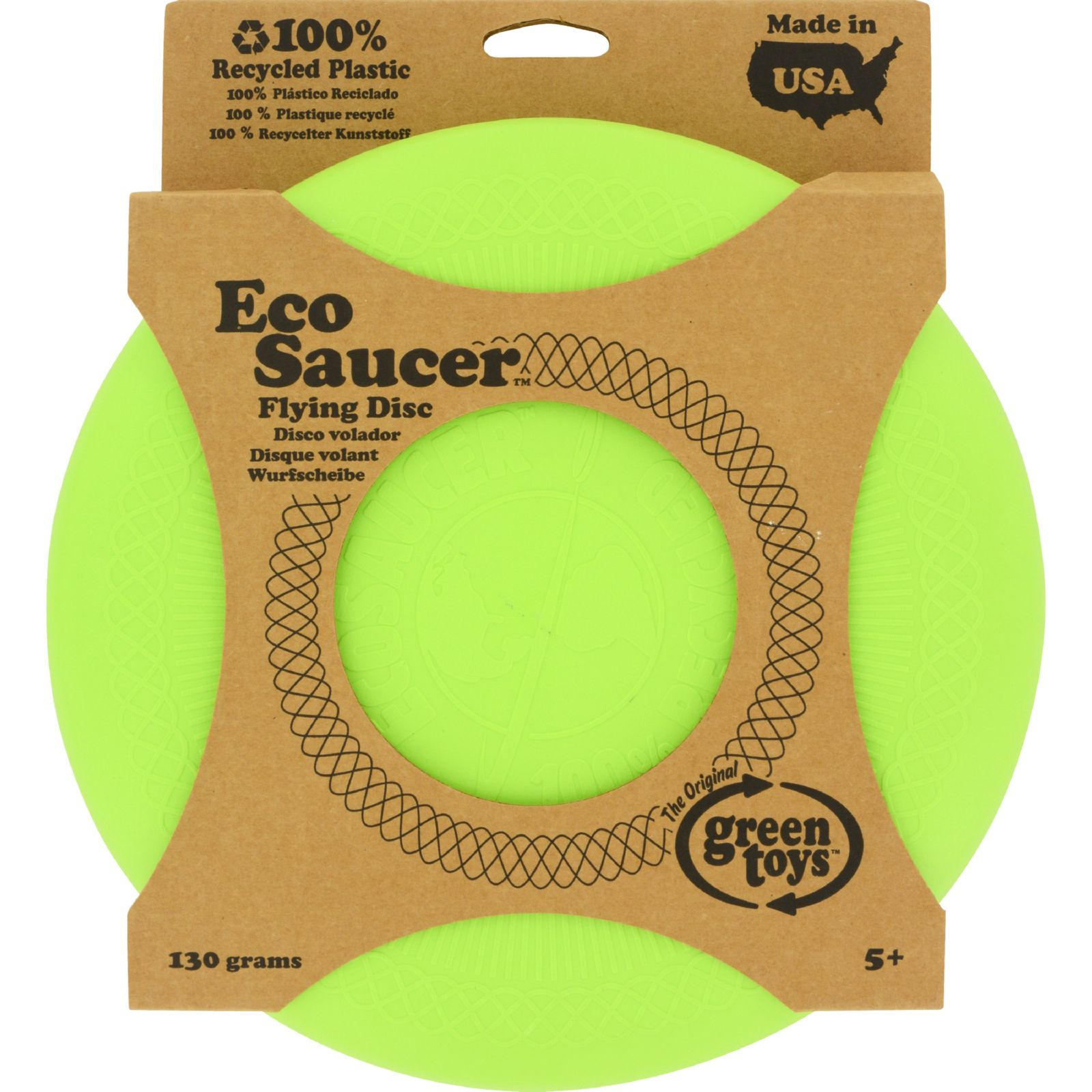 Green Toys EcoSaucer Flying Disc Multi-Colored