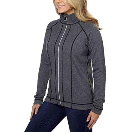 Kirkland Signature Ladies' Reversible Full Zip Jacket - Black, Large
