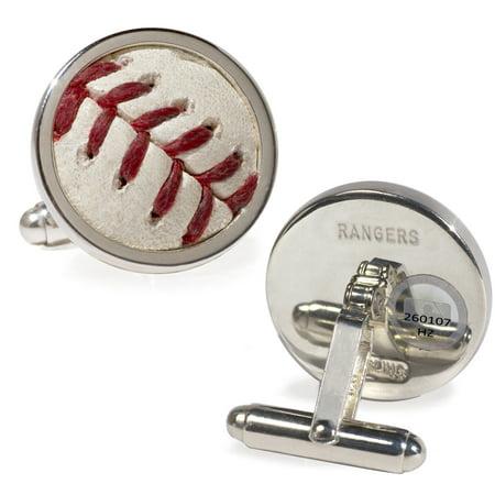 Baseball Cufflinks (Texas Rangers Tokens & Icons Game-Used Baseball Cuff Links - No Size)