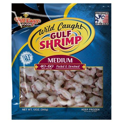 Big Easy Foods Wild Caught Gulf Shrimp, 12 oz