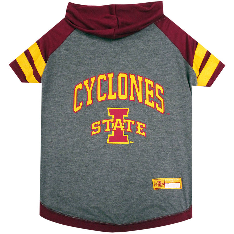 Pets First College Iowa State Cyclones Pet Hoody Tee Shirt, 4 Sizes Available