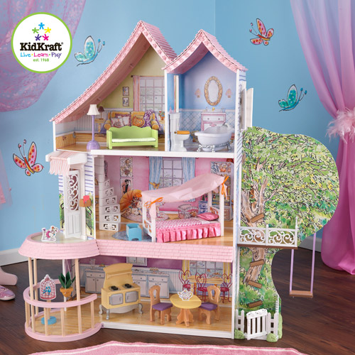 "KidKraft Home Indoor Kids Room Decorative Fancy Nancy Dollhouse 12"" Tall Play..."