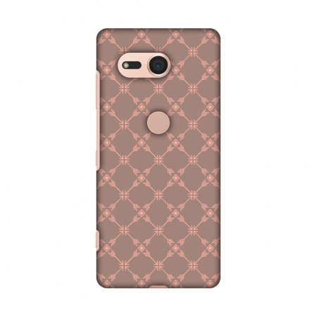 Hard Mesh Plastic Case - Sony Xperia XZ2 Compact Case - Tribal mesh- Antique brass, Hard Plastic Back Cover, Slim Profile Cute Printed Designer Snap on Case with Screen Cleaning Kit
