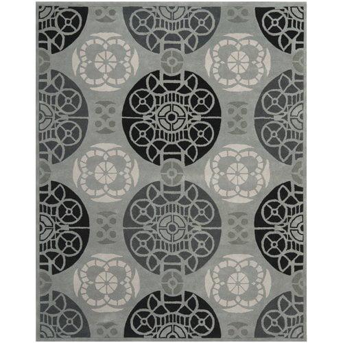 Safavieh Capri Grey / Black Area Rug