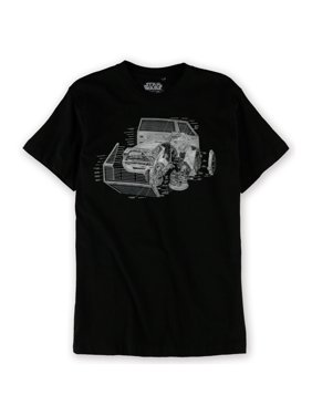 e817b722d125f Product Image Mad Engine Mens Vader TIE Fighter Schematic Graphic T-Shirt  blk M