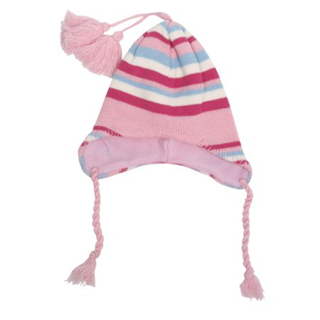Toddler Kids Child Warm Winter Stripe Earflap Beanie Ski Fleece Hat Cap