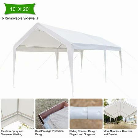 Viugreum 10x20ft Heavy Duty Portable Carport Canopy Garage