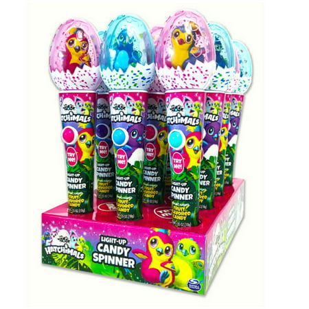 Hatchimals Light Up Candy Spinner, 12 Pack
