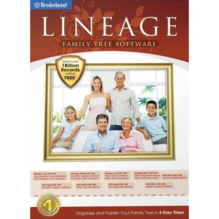 - Lineage Family Tree Software for Windows- XSDP -121160 - Lineage Family Tree Software makes it easy to preserve your family history and share your research with friends and family whether you are