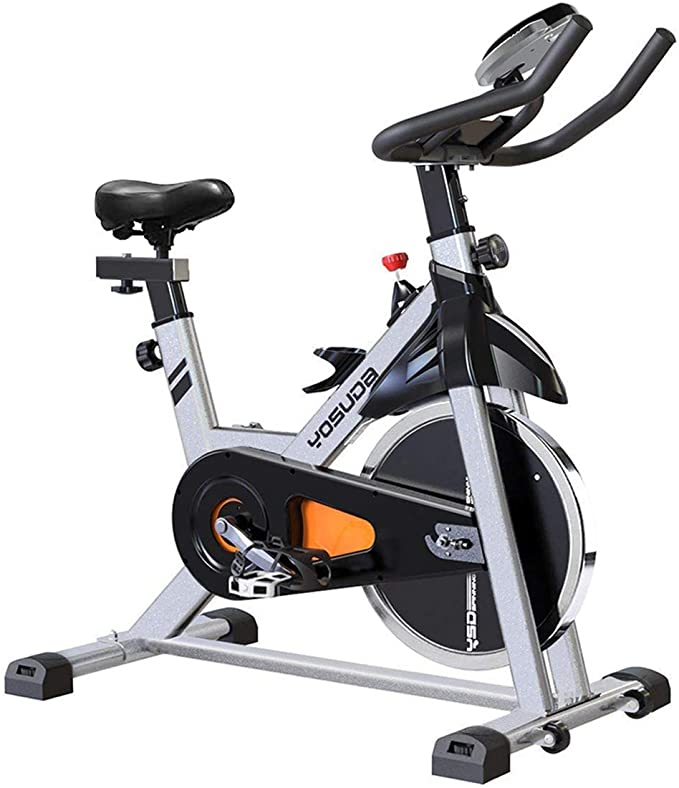 YOSUDA Indoor Cycling Bike Stationary - Cycle Bike with Ipad Mount  &Comfortable Seat Cushion (Gray) - Walmart.com - Walmart.com