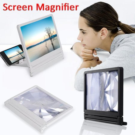 3D Mobile Phone Screen Magnifier HD Video Amplifier for Smartphone Stand -
