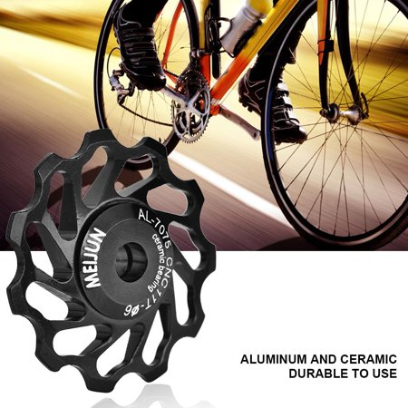 Rear Guide Roller,Zerone 1 Pair MEIJUN Ceramic Bearing Rear Pulley Jockey Wheel Bike Guide - Jockey Pulleys