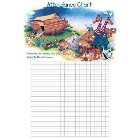 Attendance Chart-Noah's Ark w/Genesis 7:9 (20