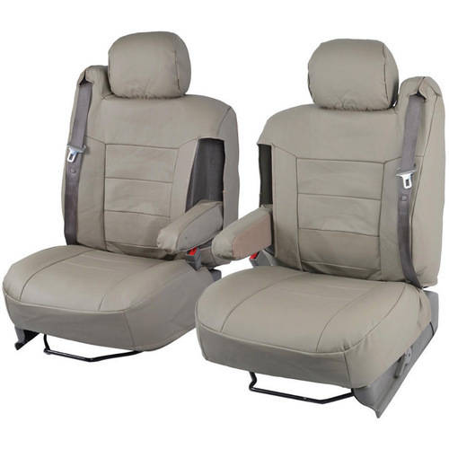 BDK PU Leather Seat Covers for SUV and Pick up Trucks, Arm Rest and Built-In Seatbelt