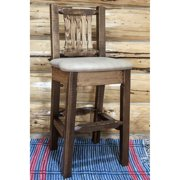 Montana Woodworks 30 in. Homestead Lacquer Finished Barstool