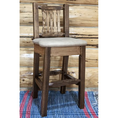 - Montana Woodworks 30 in. Homestead Lacquer Finished Barstool