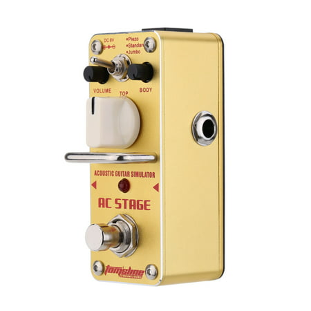 AROMA AAS-3 AC Stage Acoustic Guitar Simulator Mini Single Electric Guitar Effect Pedal with True Bypass Acoustic Simulator Pedal