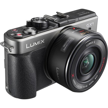 Panasonic Lumix DMC-GX1K 16 MP Micro 4/3 Mirrorless Digital Camera with 3-Inch LCD Touch Screen and 14-42mm Zoom Lens (Silver) Lens 2.7 Lcd Screen