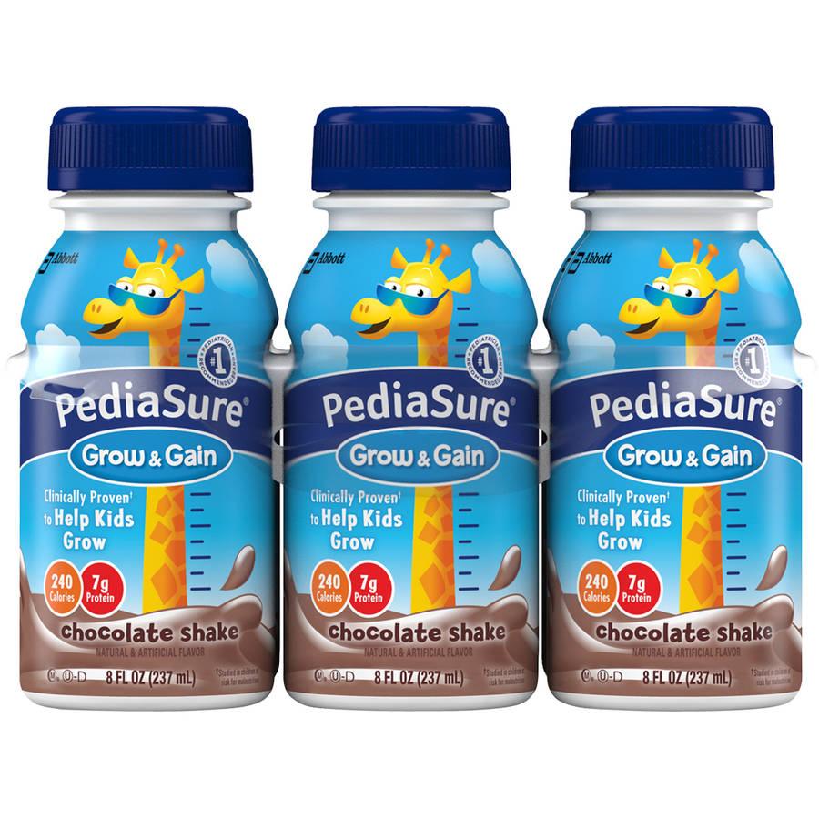 PediaSure Grow & Gain Chocolate Shakes, 8 fl oz, 6 count (4 pack)
