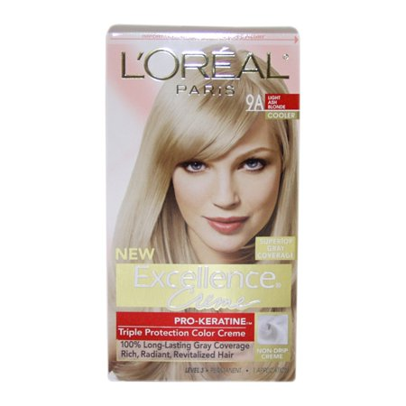 Superior Preference Fade-Defying Color # 9A Light Ash Blonde - Cooler by L'Oreal Paris for Unisex - 1 Application Hair - Teen Chest Hair