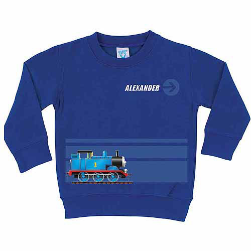 Personalized Thomas and Friends Stripe Boys' Royal Blue Pullover Sweatshirt