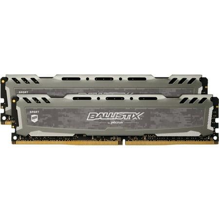 Crucial Ballistix Sport LT 16GB DDR4 SDRAM Memory Module - 16 GB (2 x 8 GB) - DDR4-3000/PC4-24000 DDR4 SDRAM - CL16 - 1.35 V - Non-ECC - Unbuffered - 288-pin - DIMM