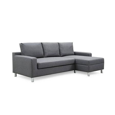 Brilliant Us Pride Furniture Hampton Linen Fabric Sectional Sofa With Pull Out Bed Inzonedesignstudio Interior Chair Design Inzonedesignstudiocom