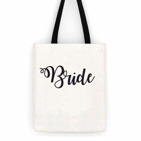 Bride Wedding  Cotton Canvas Tote Bag  Special Day Trip - Bride Bags