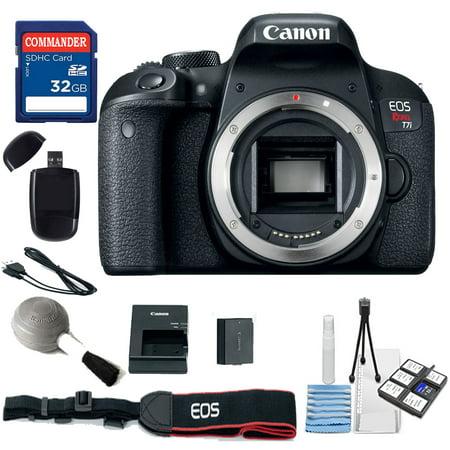 Canon EOS Rebel T7i Digital SLR Camera – WiFi ,NFC Body Only (No Lens) Kit + Commander 32GB Sd Card + More