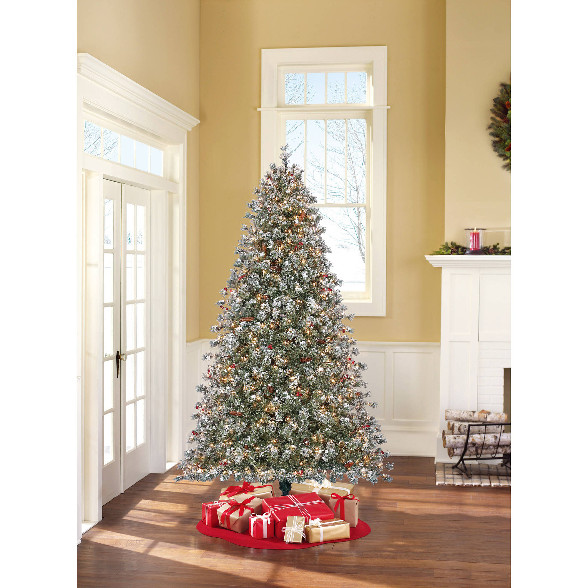 Holiday Time Pre-Lit 7.5' Covington Fir Artificial Christmas Tree ...