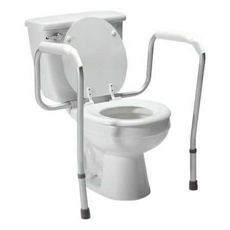 Zimtown Toilet Safety Frame Bathroom Safety Hand Rails With Adjustable Height