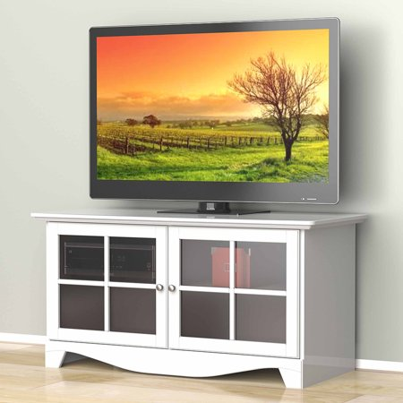 Pinnacle White Tv Console  For Tvs Up To 49