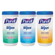 Hand Sanitizing Wipes, 5.7 x 7 1/2, Assorted, 40/Canister, 18/Carton