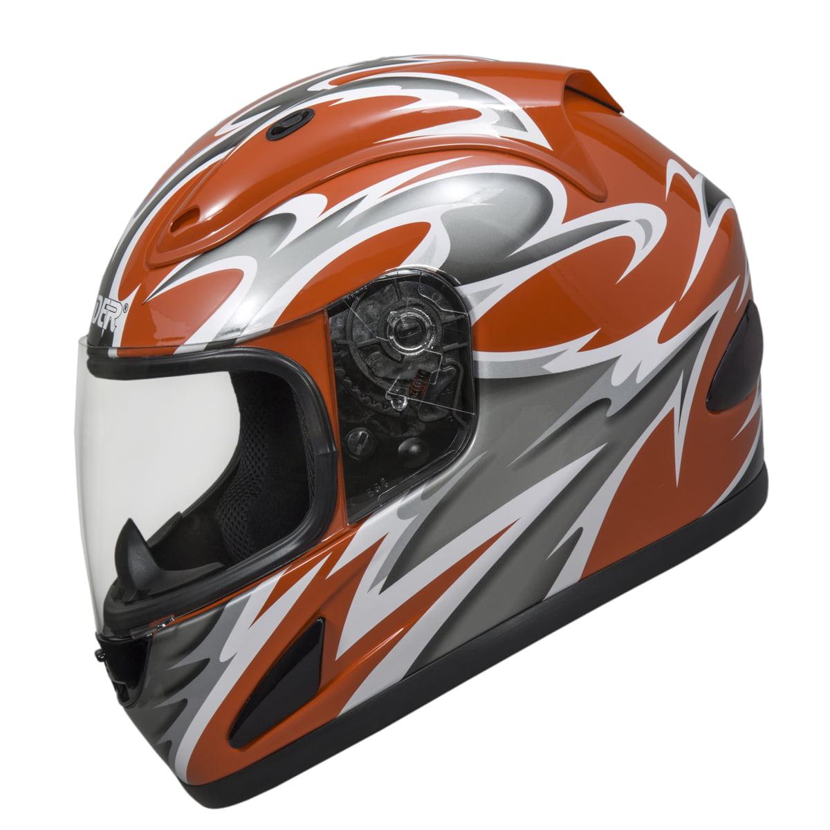 Raider Full Face Motorcycle Helmet Street Bike Helmet DOT Approved