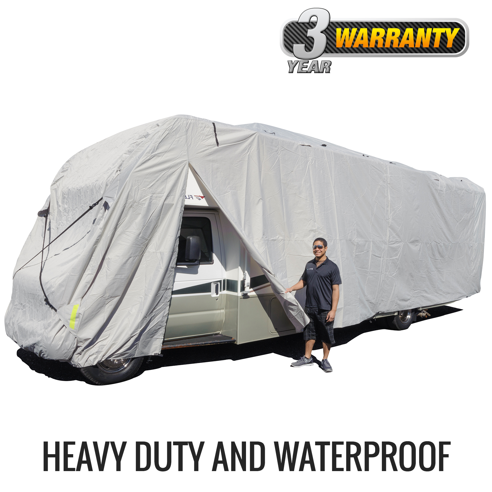 Budge Premier Class C RV Cover (Gray) Size A Up to 21' Long