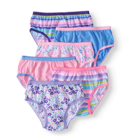 Toddler Girls' Cotton Brief Panties, (Feathers Girl Brief)