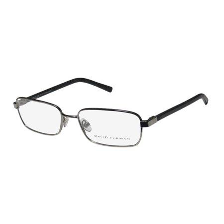 - New David Yurman 615 Mens/Womens Designer Full-Rim Titanium Gunmetal / Black Titanium Sleek Made In Japan Frame Demo Lenses 55-17-135 Eyeglasses/Spectacles