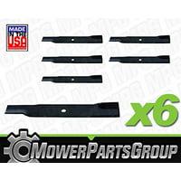 (6) Excel Lawn Mower Blades Hustler 601124 797696