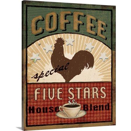 Great BIG Canvas   Daphne Brissonnet Premium Thick-Wrap Canvas entitled Coffee Blend Label III