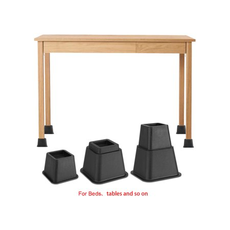 - 8pcs Adjustable Bed Risers Set Durable Heavy Duty Lift Blocks for Table, Chair or Sofa Furniture