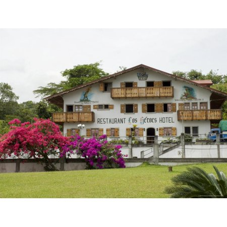 Swiss Style Hotel and Restaurant Near Nuevo Arenal, Costa Rica, Central America Print Wall Art By R H