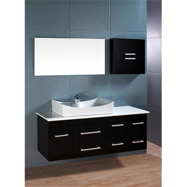 Design Element DEC1101 Springfield 53 inch Espresso Finish Single Sink Vanity Set