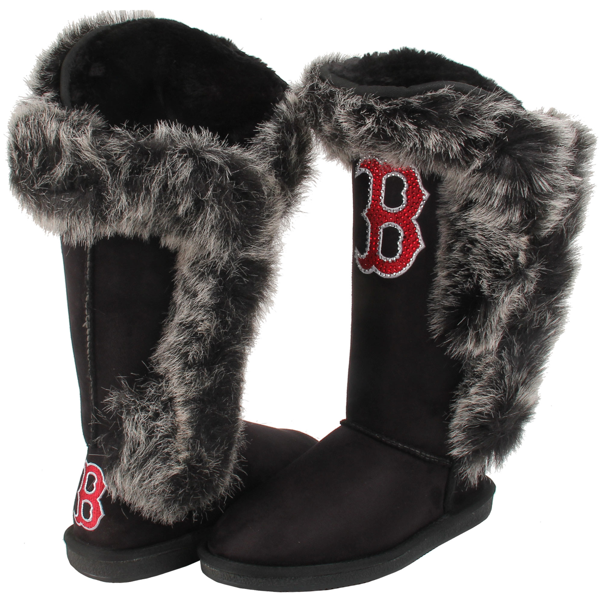Boston Red Sox Cuce Shoes Women's Victorious Boots Black by Cuce Shoes