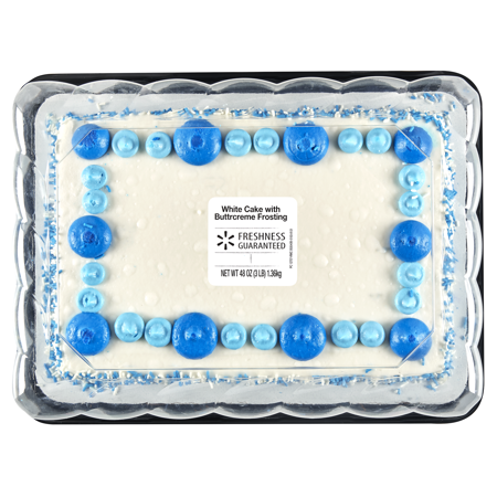 Freshness Guaranteed White Cake With Buttercreme Frosting 1 4 Sheet 48 Oz