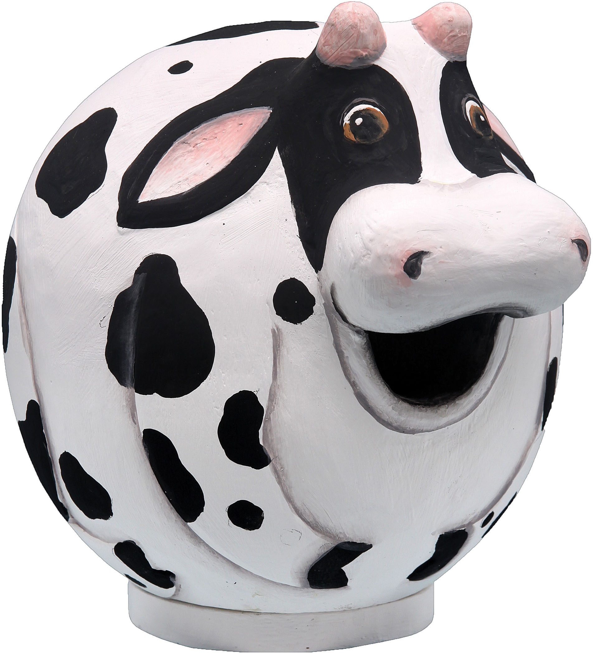 Songbird Essentials-Cow Gord-o Bird House- Black/white