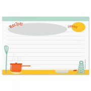 "Kitchen Recipe Cards- 4"" x 6"" Index Cards, Set of 48"