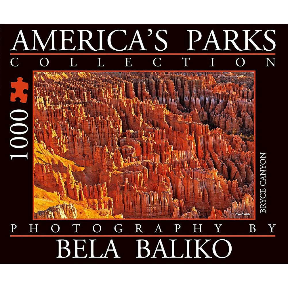 America's Parks Bryce Canyon 1000 Piece Puzzle,  National Parks by Bela Baliko Photography