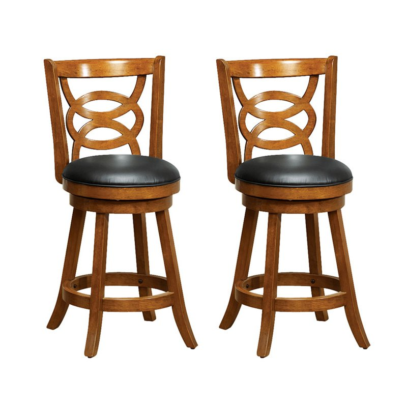 Monarch Atwood 24 in. Swivel Counter Stools - Set of 2