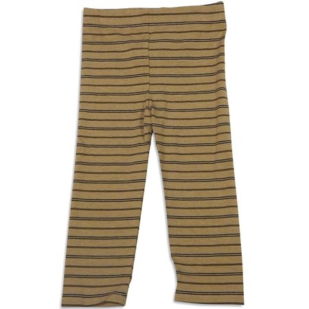 Girls Elastic Waist Pants - Mulberribush Infant Girls Striped Elastic Waist Leggings Pant Bottoms, 27013 brown stripe / 18Months