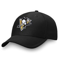Men's Fanatics Branded Black Pittsburgh Penguins Adjustable Hat - OSFA